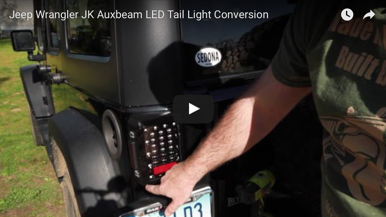 Jeep Wrangler Jk Auxbeam Led Tail Light Conversion How